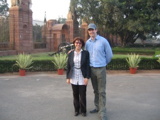 With Madame Usupova, New Delhi, India (2010)